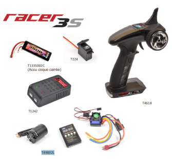 Pack Radio Racer 3S + Chargeur Pocket + Servo T224 + Accu 2S 3500maH + Combo Brushless T2M - B-T4618L2-COPY-1
