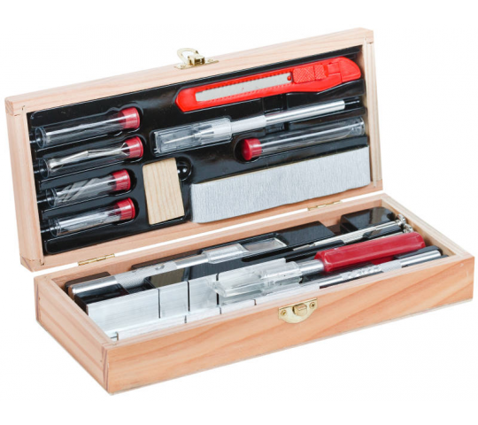 Deluxe Wooden Knife & Tool Set  - EXL44286