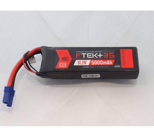 DYMOND F-TEK+ 3S 5000mAh (11,1V) 40C LiPo Pack with LED Indicator (EC5) - Dymond - HSF03199081