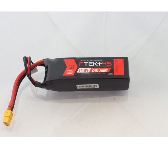 DYMOND F-TEK+ 4S 2400mAh (14,8V) 40C LiPo Pack with LED Indicator (XT60) - Dymond - HSF03199090