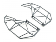 Roll Cage, Side, Left & Right, Gray - Rock Rey - Losi - LOS230039
