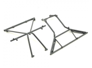 Roll Cage, Roof, Front, Gray - Rock Rey - Losi - LOS230040