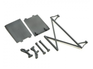 Rear Tower Support,X-Bar,Mud Guards,Gray - Rock Rey - Losi - LOS230041