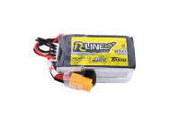 Tattu R-Line 850mAh 95C 14.8V 4S1P Lipo Battery Pack with XT60 Plug - TA-RL-95C-850-4S1P-XT60