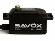 SERVO Low Profil SAVOX SC-1251MG Coreless 9kg.cm/6V - BLACK EDITION TBC - SAV-SC1251MGB