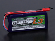 Accu reception nano-tech 1300mAh 2S1P 20 ~ 40C Turnigy - 9210000041
