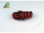 Fil silicone AWG14 - 2,12mm² rouge+noir A2PRO - A2P-17140