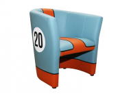Fauteuil Cabriolet Racing Inside N° 20 Racing Team Bleu Orange - 94900082
