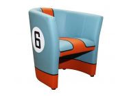Fauteuil Cabriolet Racing Inside N° 6 GT Team Bleu Orange - 94900084