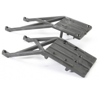 Skidplates, front & rear (black) - TRX-5837