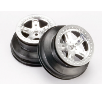 Wheels, SCT satin chrome, beadlock style, dual profile - TRX-5872