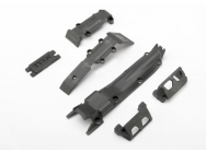 Skidplate set, front (1)/ rear (1)/ transmission (1)/ steering servo guards (2) / steering servo cover plate (1) - TRX-7037