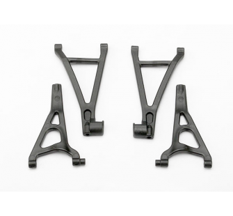Suspension arm set, front (includes upper right & left and lower right & left arms) (1/16 E-Revo) - TRX-7131