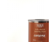 Peinture Chroma Gloss Enamel (Resistant Carburant) Blanc (Pot 125ml) - Guild Materials - GLDCHR6200