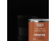 Peinture Chroma Gloss Enamel (Resistant Carburant) Noir (Pot 125ml) - Guild Materials - GLDCHR6203