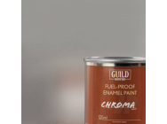 Peinture Chroma Gloss Enamel (Resistant Carburant) Argent (Pot 125ml) - Guild Materials - GLDCHR6207