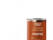 Peinture Chroma Matt Enamel (Resistant Carburant) Blanc (Pot 125ml) - Guild Materials - GLDCHR6300