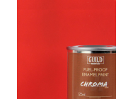 Peinture Chroma Matt Enamel (Resistant Carburant) Rouge (Pot 125ml) - Guild Materials - GLDCHR6301