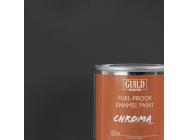 Peinture Chroma Matt Enamel (Resistant Carburant) Noir (Pot 125ml) - Guild Materials - GLDCHR6303