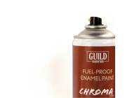 Peinture Chroma Gloss Enamel (Resistant Carburant) Blanc (400ml Aerosol) - Guild Materials - GLDCHR6400