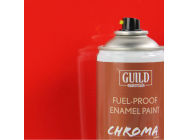 Peinture Chroma Gloss Enamel (Resistant Carburant) Rouge (400ml Aerosol) - Guild Materials - GLDCHR6401