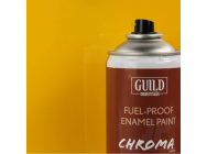 Peinture Chroma Gloss Enamel (Resistant Carburant) Cub Yellow (400ml Aerosol) - Guild Materials - GLDCHR6402
