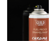 Peinture Chroma Gloss Enamel (Resistant Carburant) Noir (400ml Aerosol) - Guild Materials - GLDCHR6403