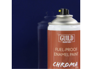 Peinture Chroma Gloss Enamel (Resistant Carburant) Bleu Fonce - Dark Blue (400ml Aerosol) - Guild Materials - GLDCHR6404