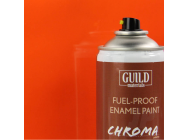 Peinture Chroma Gloss Enamel (Resistant Carburant) Orange (400ml Aerosol) - Guild Materials - GLDCHR6406