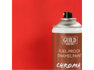 Peinture Chroma Matt Enamel (Resistant Carburant) Rouge (400ml Aerosol) - Guild Materials - GLDCHR6501