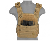 Gilet Plate Carrier SPAC Tan 1000D - Lancer Tactical - A68601