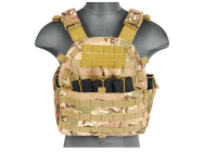 Veste Plate Carrier 1000D Camo - Lancer Tactical - A68606