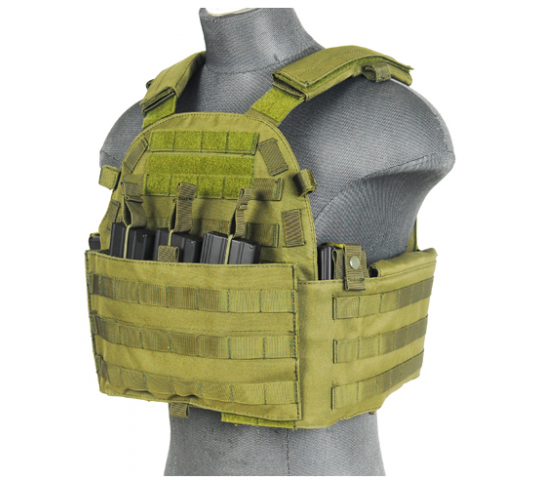 Veste Plate Carrier 1000D OD - Lancer Tactical - A68607