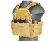 Veste Plate Carrier 1000D Tan - Lancer Tactical - A68608