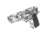 Replique 1911 DOUBLE BARREL Skull GBB - AW CUSTOM - PG42466
