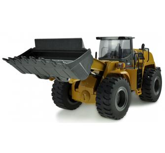 Pelle HUINA 580 et Chargeur à pneus AMEWI STRONG POWER Bulldozer-114-metal-22343-22352