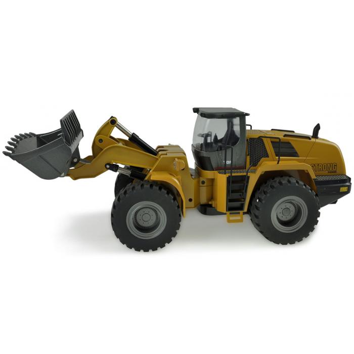 Pelle HUINA 580 et Chargeur à pneus AMEWI STRONG POWER Bulldozer-114-metal-22343