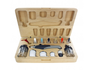 Deluxe Resin Airbrush Set/Wood Box - TES4709T