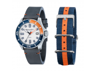 Montre Spinnaker Spence Automatique bracelet cuir + bracelet Nato orange bleu marine - SP-5039-02