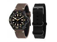 Montre Spinnaker Spence Automatique bracelet cuir marron + bracelet Nato noir - SP-5039-05