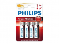 Pack de 4 piles Philips Power Alkaline LR06 Mignon AA - 3171