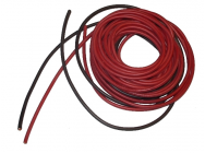 cable souple 5.3mm²-2x1m silicone rouge+Noir (10AWG) - 10AWG