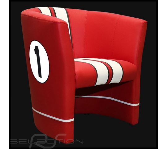 Fauteuil cabriolet Racing Inside n° 1 rouge GT racing / blanc - 94900085