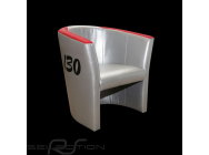 Fauteuil cabriolet Racing Inside n° 130 Little Bastard gris / rouge - 94900171