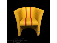 Fauteuil cabriolet Racing Inside n° 15 jaune / rouge / gris  - 94900155