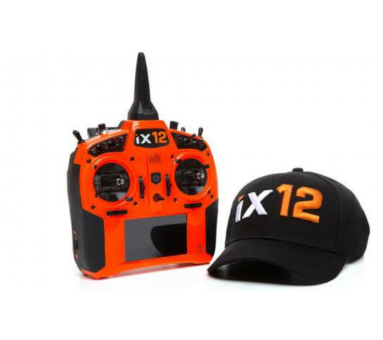 Spektrum IX12 ORANGE intelligent radio system Android 2.4Ghz DSMX + Casquette Offerte - SPMR12000OEU-COPY-1
