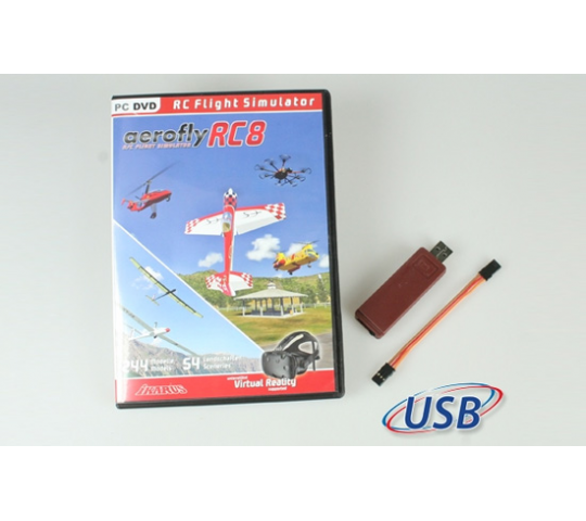 Aerofly RC8 + interface Hott Ikarus  - T2M-IK3091012