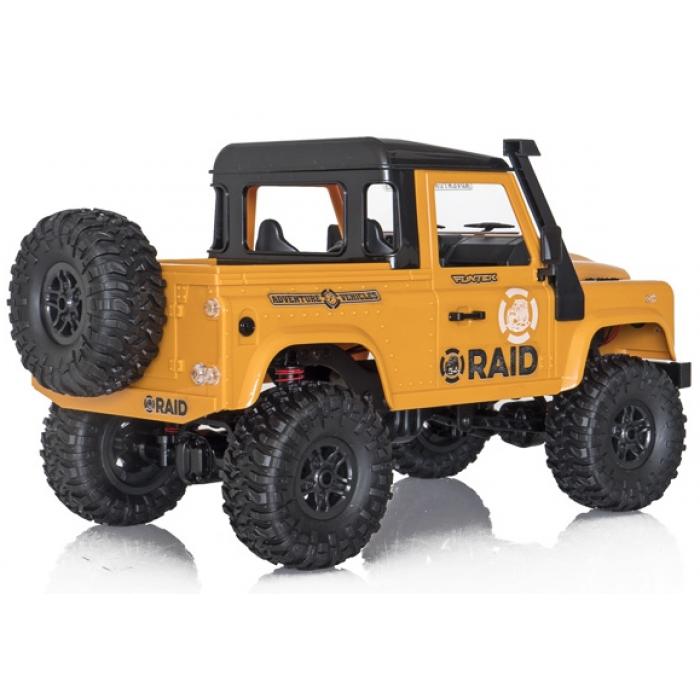 Funtek Raid2 Pickup 4x4 1/12 RTR jaune - FTK-RAID2-YE