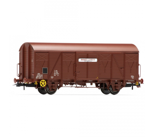 Hornby SNCF, wagon couvert a 2 essieux Gss 4.01 «Bagages Express», epoque IV - HJ6164