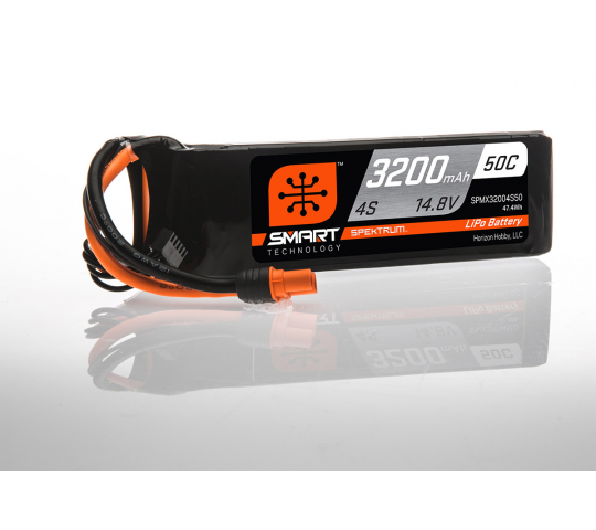 Spektrum Batterie LiPo intelligente 14.8V 3200mAh 4S 50C IC3 - SPMX32004S50